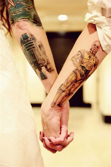 star wars couple tattoos 35 tattoos and designs for expressing your eternal