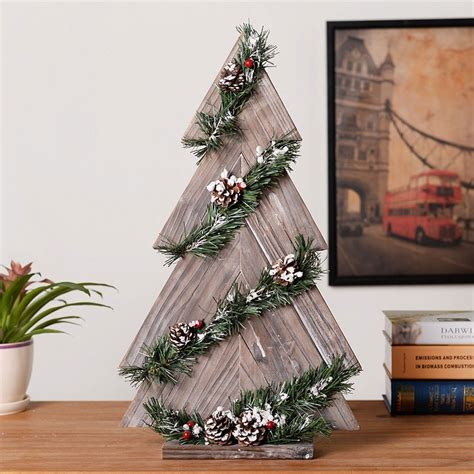 handmade wood christmas tree eco friendly natural wood