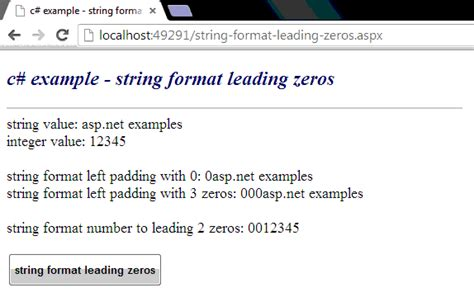 format date leading zero c how to format a string with leading zeros