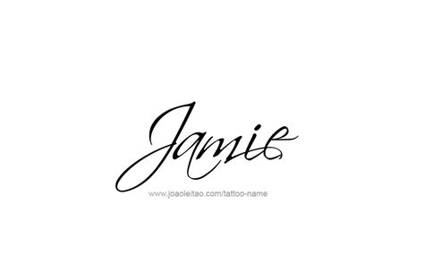 jamie name tattoo designs