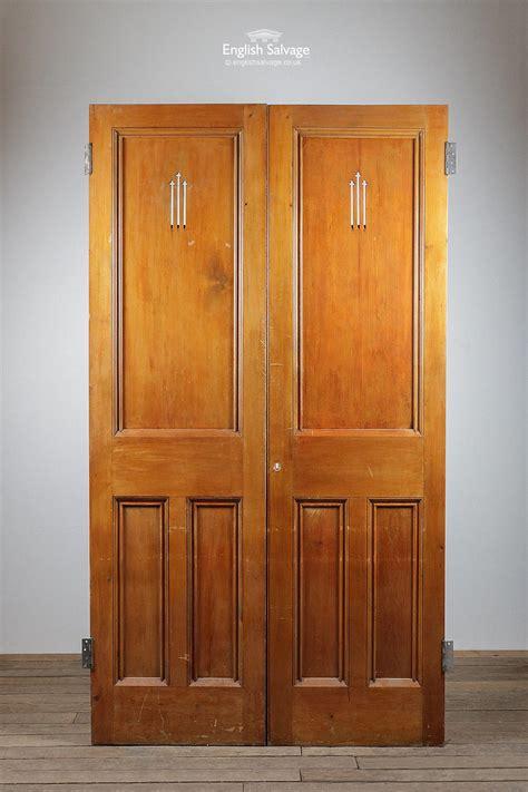 pair  reclaimed double church doors