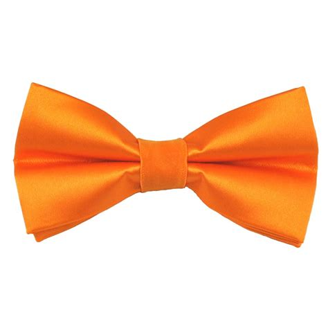 plain bright orange bow tie from ties planet uk