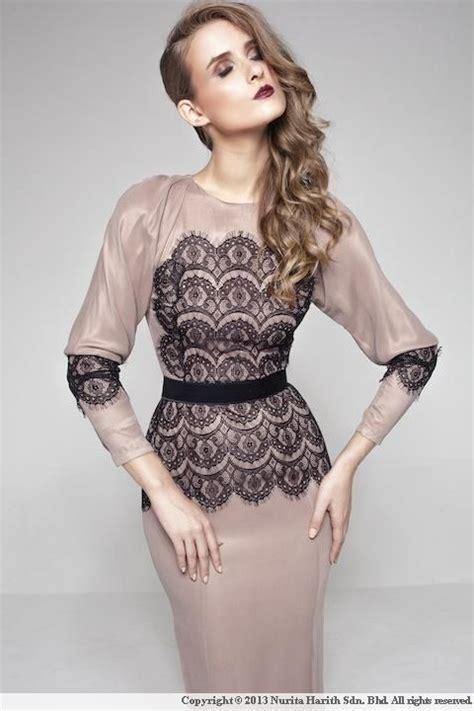 design dress kembang luxe evelyn by nurita harith lebaran 2013 modern kurung
