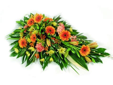 Orange Floral King Sprei orange funeral spray funeral flowers and tributes by local essex florists