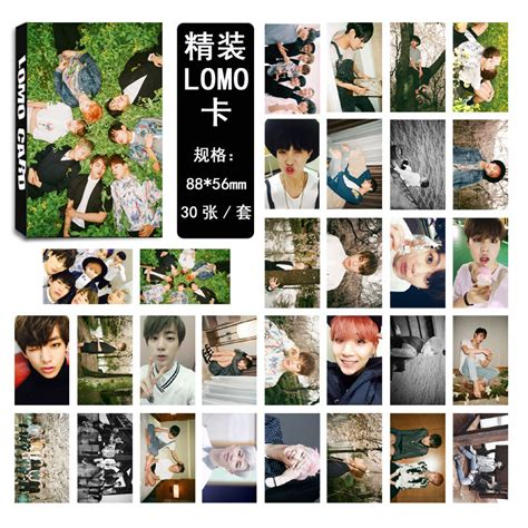 BTS RUN EXO Collective Personal Photo Picture V Suga Poster Lomo Card 30pcs set   eBay