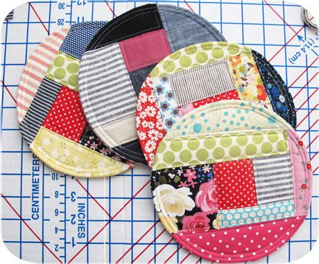 Patchwork Coasters - patchwork coasters michellepatterns