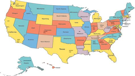 state map of usa united states map with state names capitals pictures to