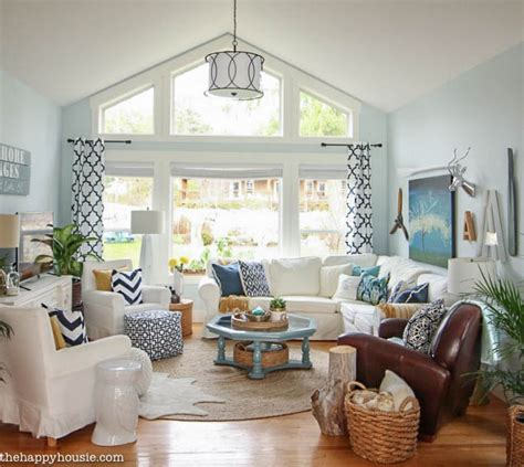 navy blue and white living room cozy coastal navy and white living room refresh the