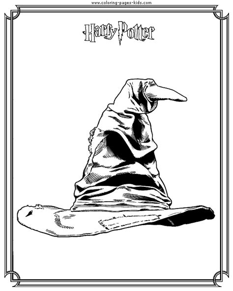 harry potter quote coloring page sorting hat harry potter color page cartoon characters