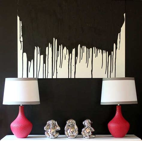 Dining Room Art Ideas make this easy diy paint drip wall art