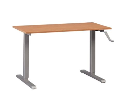 Standing Desk Table Top by Multitable Adjustable Height Standing Desk Silver Manual