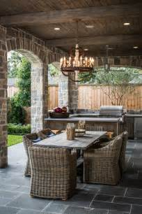 Decorating Ideas For Outdoor Kitchen Thompson Custom Homes Outdoor Kitchen Wicker Furniture