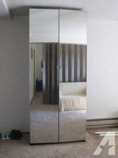 Mirrored Closet Doors Ikea Pax Wardrobe White Stained Oak Effect Vikedal Mirror Glass Standard Hinges 59x23 3 4x93 1 8