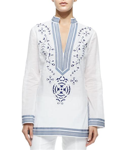 Ribbona Tunik burch embroidered tunic w ribbon trim