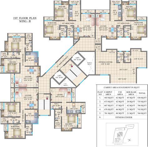 habitat floor plans cosmos habitat by cosmos group in thane west mumbai