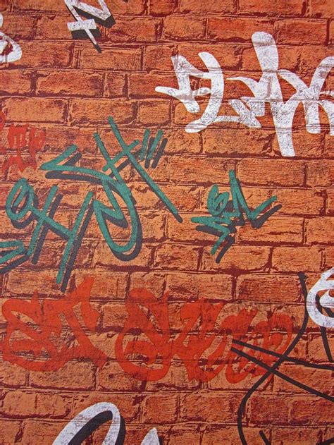 brick effect wallpaper with graffiti 106 best images about for the home on pinterest uk