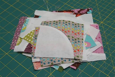 tutorial quilting the drunkards path charm