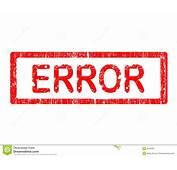 Grunge Office Stamp  ERROR Stock Image 3256491