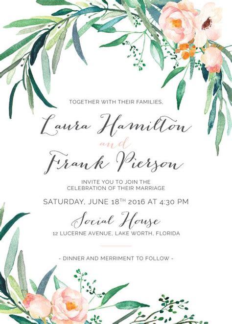 Imprintable Wedding Invitations