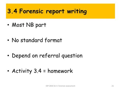 Assessment Report Writing Ppt by Ppt Forensic Industrial Psychology Powerpoint Presentation Id 2995887