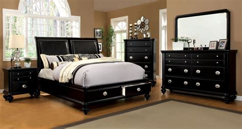laguna black storage platform bedroom set cm7652l q