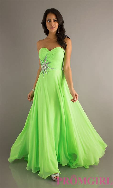 Dress Lime strapless prom gowns crush strapless evening dresses