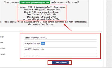 membuat akun blog gratis membuat akun ssh gratis di fastssh com galuh s blog