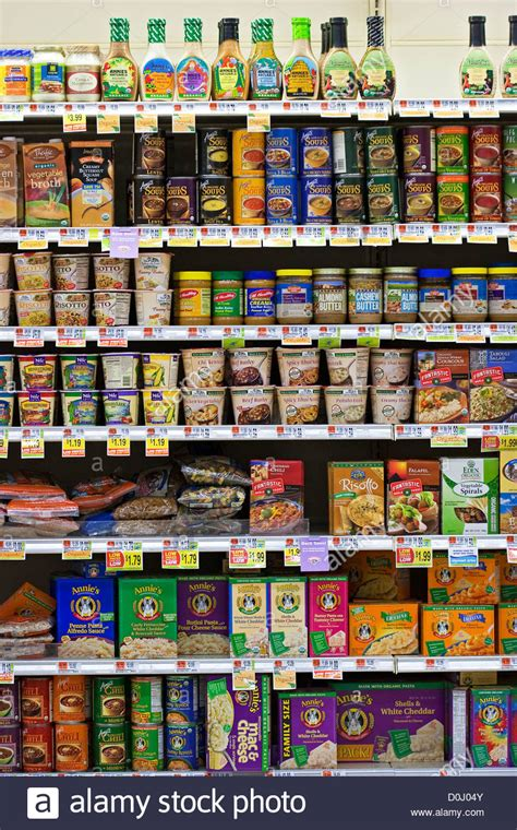 On The Shelf In Store by Organic Food Products On Grocery Store Shelves Stock Photo Royalty Free Image 52026379 Alamy