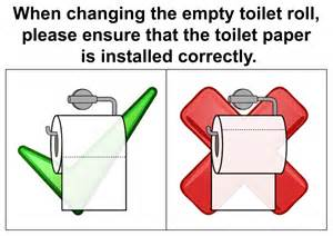 Size Of Toilet toilet paper etiquette sign by topher147 on deviantart