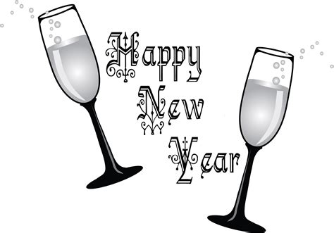 new year clipart black and white new year s black and white clipart clipart suggest