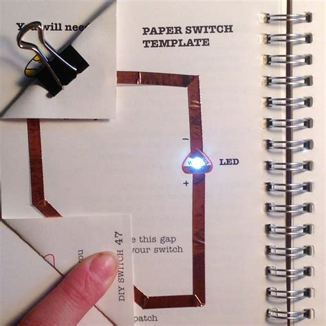 Paper Circuit Card Templates by Learn Chibitronics