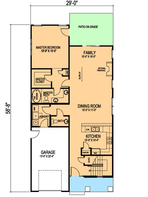 First Or Second Floor Master 30007rt 1st Floor Master Second Master Suite House Plans
