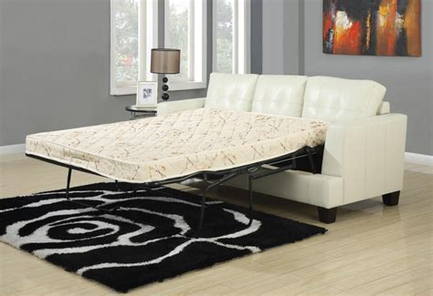cream leather sofa bed toronto tufted cream leather sleeper sofa bed by true