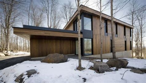contemporary mountain home plans modern mountain cottage in quebec by blouin tardif