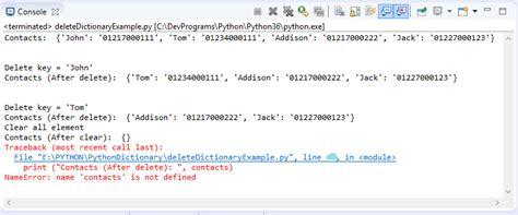 tutorial python dictionary python dictionary exle jump start with python