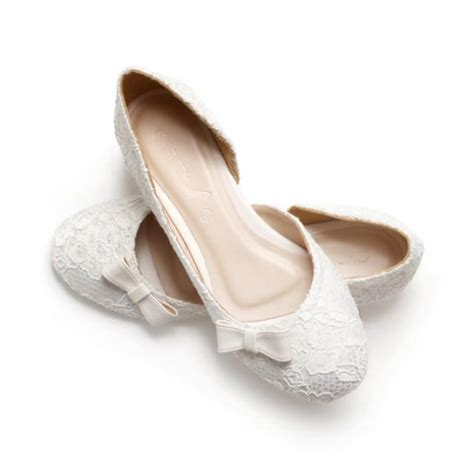 ivory satin flat shoes simply sweet ivory lace white satin wedding 1 inch