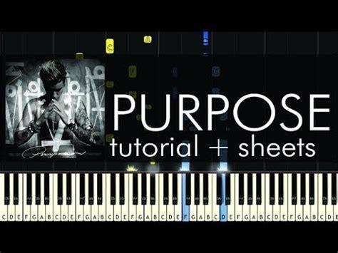 tutorial piano purpose justin bieber purpose piano tutorial how to play