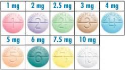 warfarin tablet colors coumadin 174 prescription medication color chart