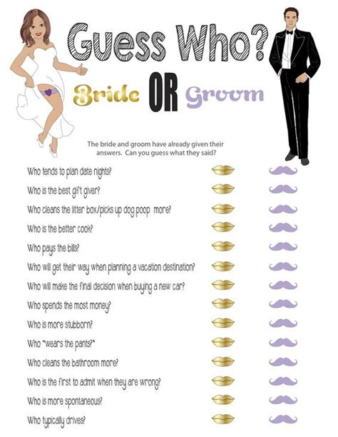 Guess Who Bridal Shower by Printable Bridal Shower Quot Guess Who Quot Printable