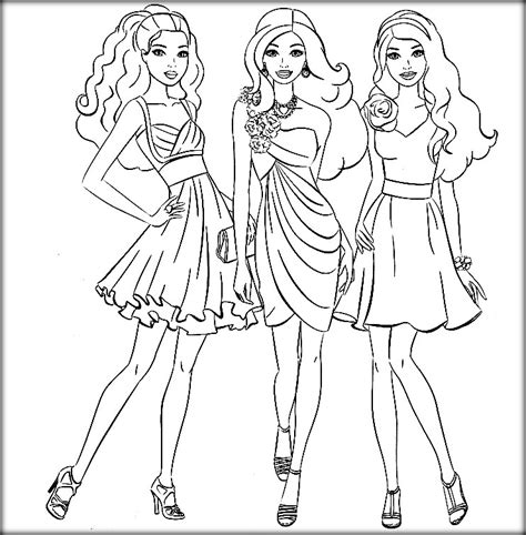Barbie with her friends coloring games   Color Zini