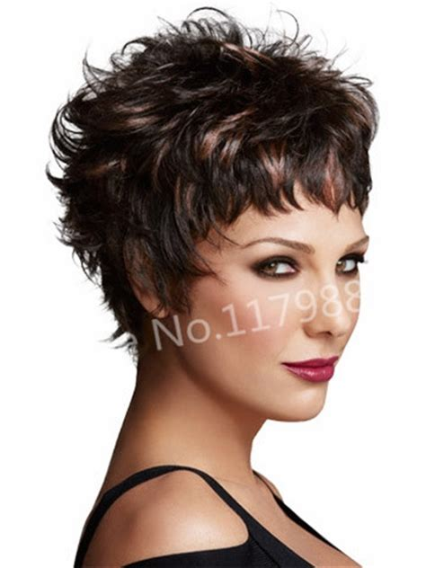 large bobos hairstyle pics sexy tempting dark brown curly highlights natural short