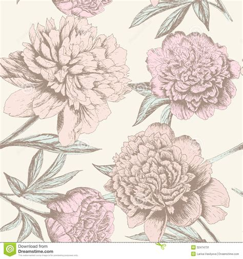pattern background sketch peony sketch pattern stock image image 32474731
