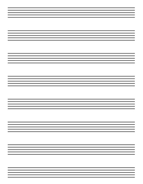 printable music staff paper blank 5 best images of free printable staff paper blank sheet