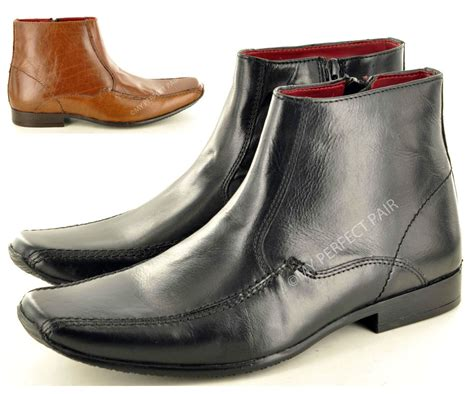 mens italian ankle boots new s italian style genuine leather formal chelsea