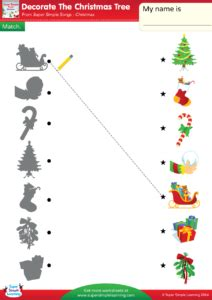 decorate the christmas tree lyrics decorate the christmas tree worksheet match super simple