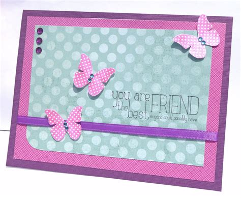 Handmade Birthday Cards For Best Friend - best friend birthday card handmade paper greeting card