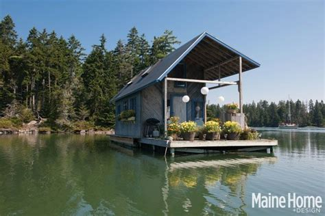 a tiny 240 square foot floating house in maine