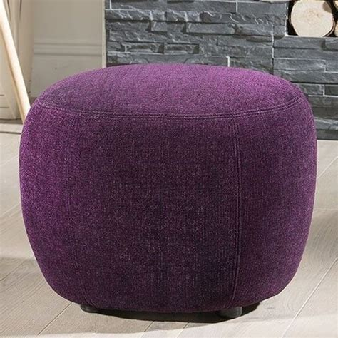 large purple ottoman large modern italian footstool foot stool ottoman