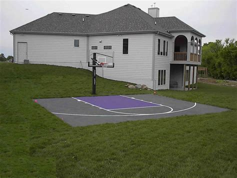 outdoor basketball court backyard sport court cost with basketball court surfaces