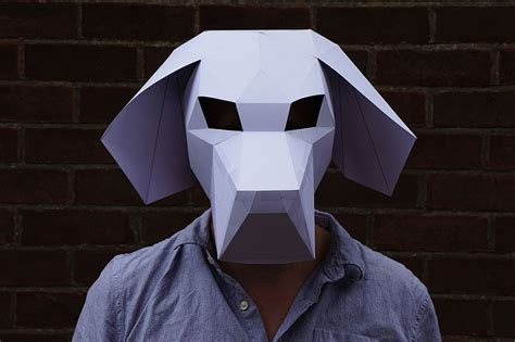 How To Make A 3d Mask Out Of Paper - diy geometric paper masks that you can print out at home